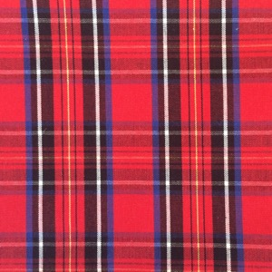 Canvas tartan red & black