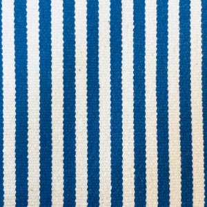 Canvas ticking stripe blue & white
