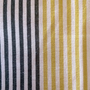 Canvas 50/50 green, yellow & white stripe