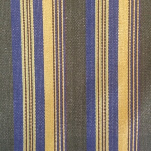 Canvas multi stripe olive & yellow & blue