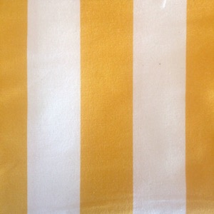 Canvas wide stripe white & yellow
