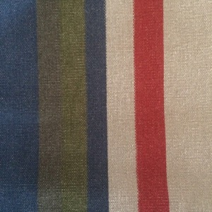 Canvas multi stripe white, olive, blue & red